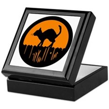Black_Cat_Silhouette Keepsake Box