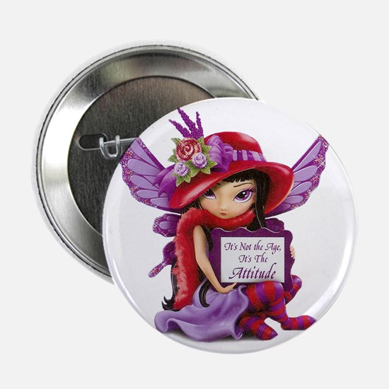 """D-Not the Age but the Attitude Fairy- 2.25"""" Button"""