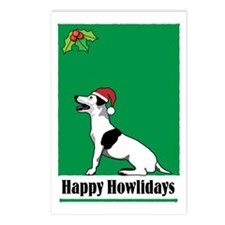 terrier_xmas_cards Postcards (Package of 8)