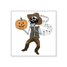 """Mexican Halloween Square Sticker 3"""" x 3"""""""