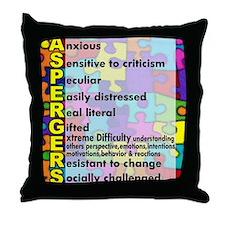 aspergers traits 3 copy Throw Pillow