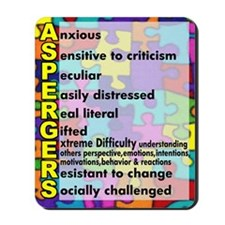 aspergers traits 3 copy Mousepad