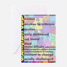 aspergers traits 3 copy Greeting Card