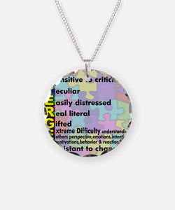 aspergers traits 3 copy Necklace Circle Charm