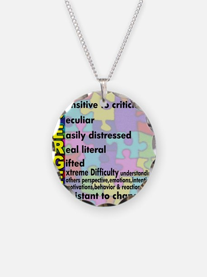 aspergers traits 3 copy Necklace Circle Charm