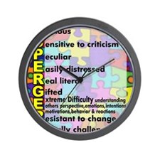 aspergers traits 3 copy Wall Clock