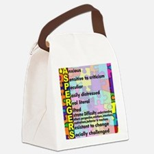 aspergers traits 3 copy Canvas Lunch Bag