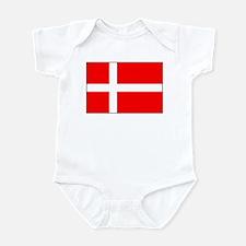Danish National Flag Items Infant Bodysuit