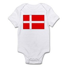 Danish National Flag Items Onesie
