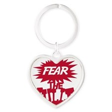 2-fear_the_mullet Heart Keychain