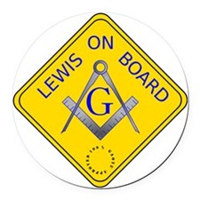 240 mm Lewis On Board Round Car Magnet