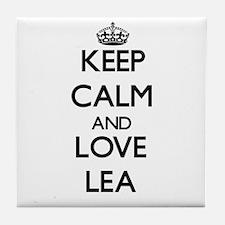 Keep Calm and Love Lea Tile Coaster