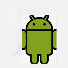 Android-Stroked-Black-New Greeting Card
