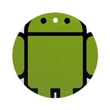 Android-Stroked-Black-New Round Ornament