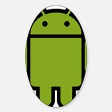 Android-Stroked-Black-New Sticker (Oval)