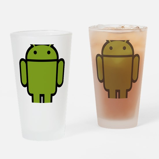 Android-Stroked-Black-New Drinking Glass