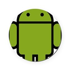 Android-Stroked-Black-New Cork Coaster