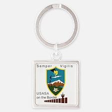 BorderSitesTshirt Square Keychain
