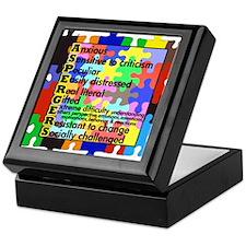 puzzle edge dsgn fut font copy Keepsake Box