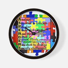 puzzle edge dsgn fut font copy Wall Clock