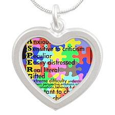 puzzle edge dsgn fut font co Silver Heart Necklace