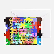puzzle edge dsgn fut font copy Greeting Card