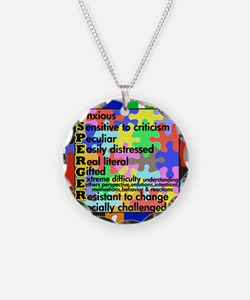 puzzle edge dsgn fut font co Necklace Circle Charm