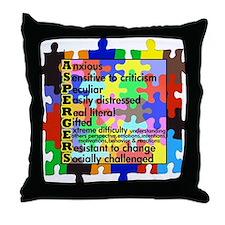 puzzle edge dsgn fut font copy Throw Pillow