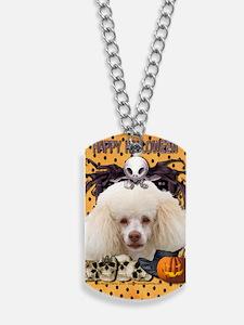HalloweenNightmare_Poodle Dog Tags