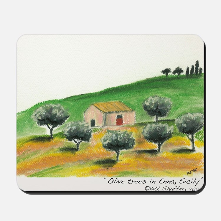 IMG_0054-olive trees in Enna Mousepad