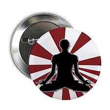 "Zen Meditation yoga design 2.25"" Button"