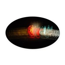 Super Collider Oval Car Magnet