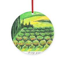 IMG_0052-orange groves in Ennalt Round Ornament