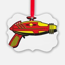 RaygunRedYellow Ornament