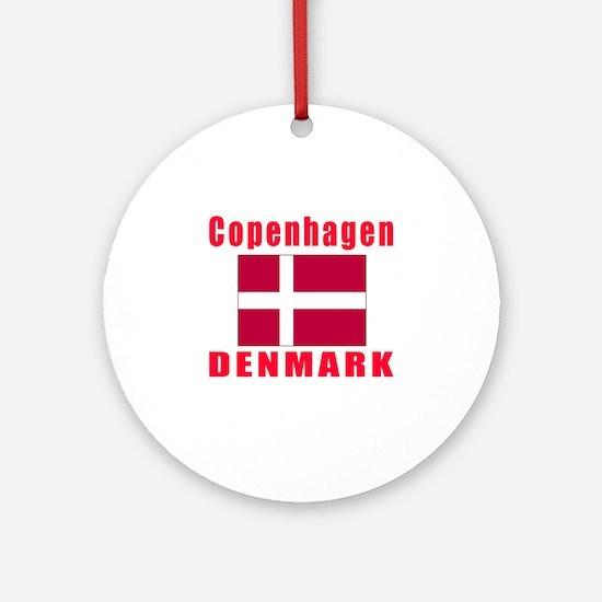 Copenhagen Denmark Designs Ornament (Round)