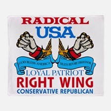 Right Wing Conservative Throw Blanket