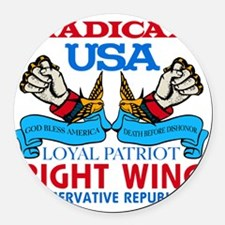 Right Wing Conservative Round Car Magnet