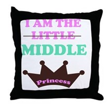 I am the little middle princess Throw Pillow