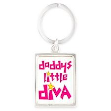 2-daddys_little_diva Portrait Keychain