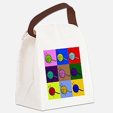 balls of colourful yarn Canvas Lunch Bag