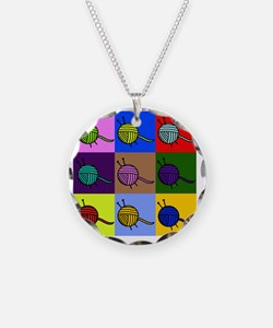 balls of colourful yarn Necklace