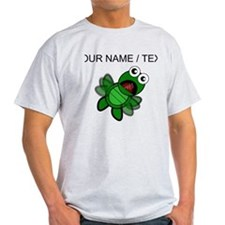 Custom Cartoon Turtle Falling T-Shirt