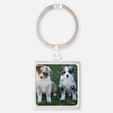 Charlie and Bandit Square Keychain
