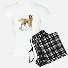2-GoldenMomWhiteRoseMerge Pajamas