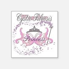 "Cystic Fibrosis Princess Wa Square Sticker 3"" x 3"""