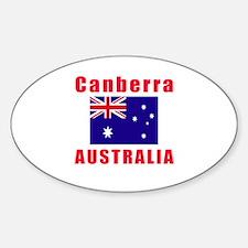 Canberra Australia Designs Sticker (Oval)