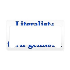 2-literalists_dark License Plate Holder