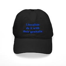 2-literalists_dark Baseball Hat