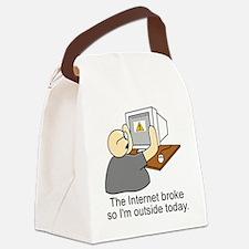 light internet shirt Canvas Lunch Bag