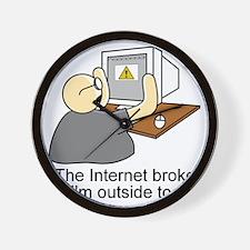 light internet shirt Wall Clock